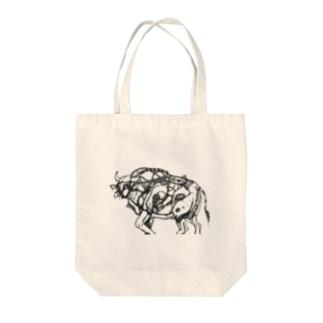 牛 Tote bags