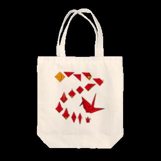 フォーヴァの折り鶴 Tote bags