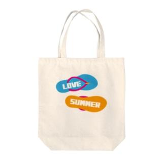LOVE SUMMER Tote bags