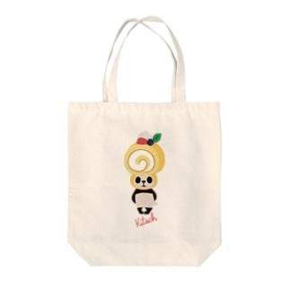 ロールケーキパンダ Tote bags