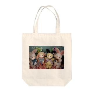 しゅうごう Tote bags