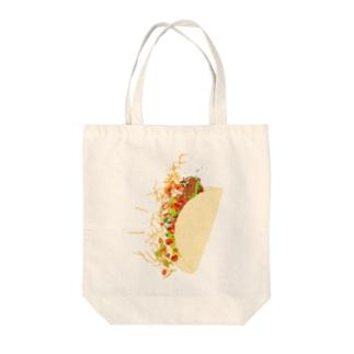 フォーリングタコス Tote bags