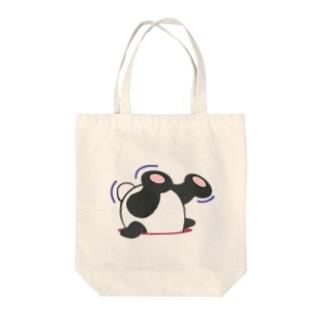 抜けないパンダン Tote bags