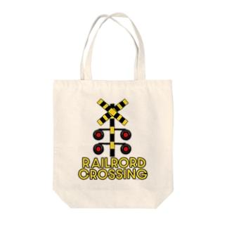 ふみきりデザイン A Tote bags