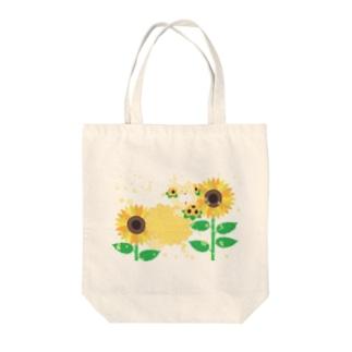 夏だよ!ひまわりの妖精 Tote bags