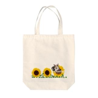 ひまわりミケちゃん Tote bags