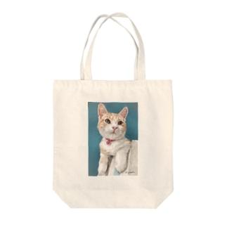 アメリカンショートヘアのボワちゃん猫絵 Tote bags