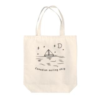 Canadian sailing ship Tote bags