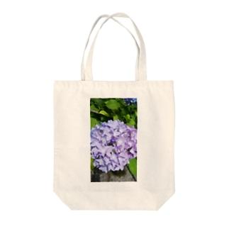 パステルパープルな紫陽花 Tote bags