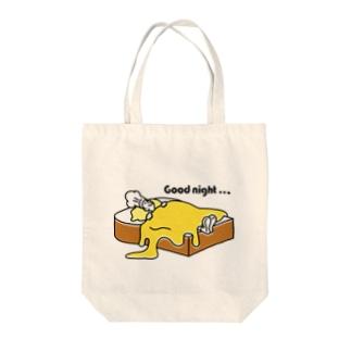 おやすみパン屋さん Tote bags