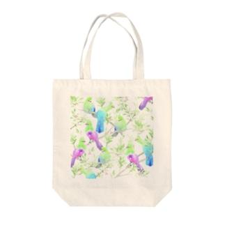 鳥 (エボシドリ) Tote bags