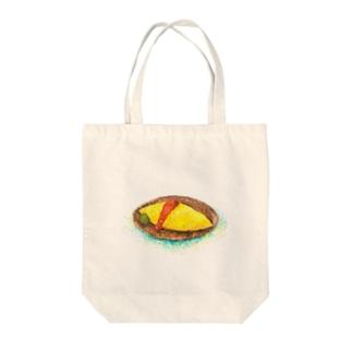 てんてんオムライス Tote bags