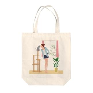 まりまりのCat&Girl Tote bags