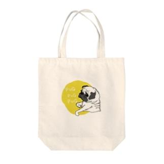 PUGPUGPUG フォーン✖️イエロー Tote bags