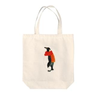 マフラーペンギン Tote bags