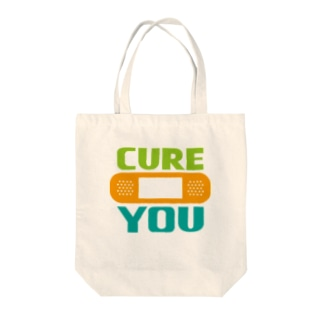 CURE YOU Tote bags