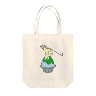 練乳ねこかき氷(メロン/抹茶) Tote bags