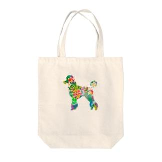 プードルハワイ Tote bags