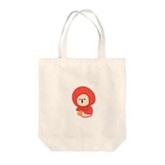 ぼくずきんちゃん Tote bags