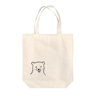 ギザギザ(しろくま) Tote bags