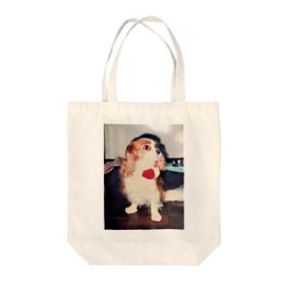 キャバリアキングチャールズスパニエル(retro) Tote bags