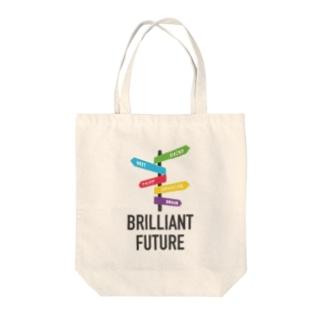 BRILLIANT FUTURE Tote bags
