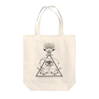 shaman(白) Tote bags