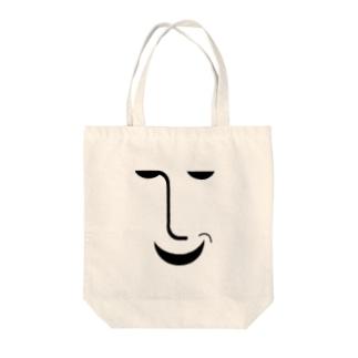 ニヤリン Tote bags