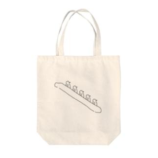 エスカレーターペンチャ×5 Tote bags