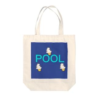 プール Tote bags