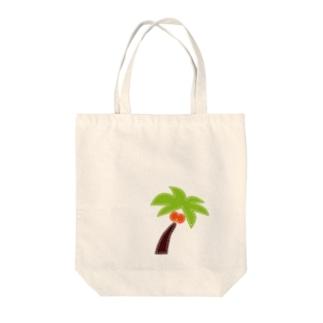 パッチワーク-ヤシの木 Tote bags
