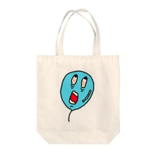 Scream balloon Tote bags