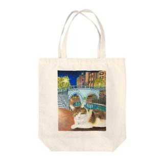 ウトウトする猫ちゃん Tote bags