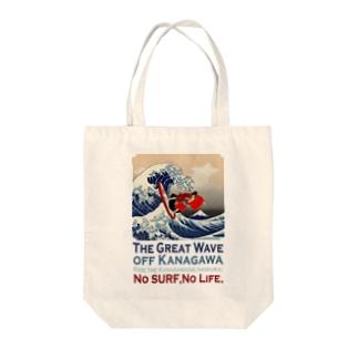 The Great Wave off Kanagawa(KABUKI-MONO) Tote bags