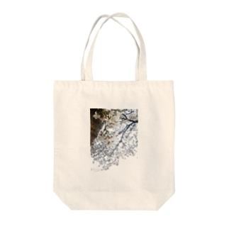 白い桜 Tote bags