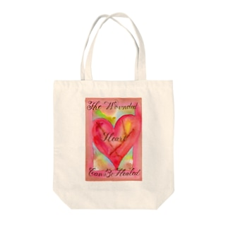 The Wounded Heart Can Be Healed Tote bags