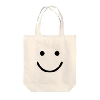スマイルマーク Tote bags