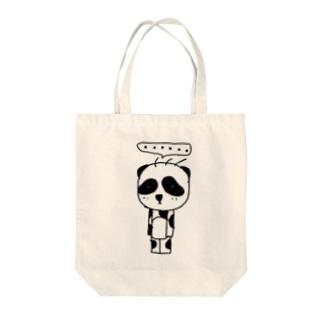 立ち止まりパンダ(ソロ) Tote bags