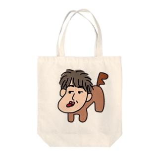 人面犬「たか爺」 Tote bags