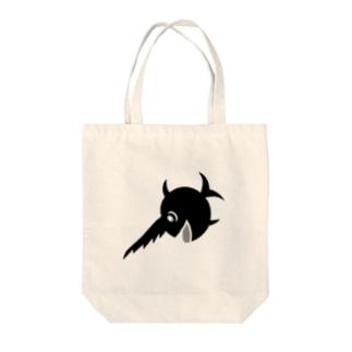 笑うノコギリザメ Tote bags