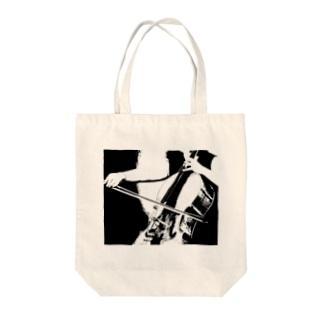 チェロ Tote bags