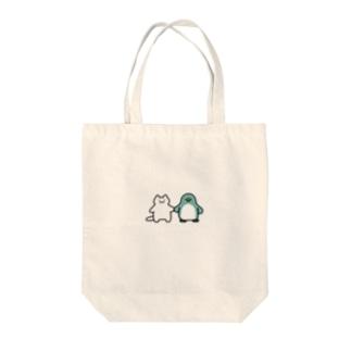 小さいネコとペンギンさん Tote bags