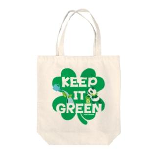 エコ・パンダ ECO PANDA グリーン大作戦 Tシャツ green Tote bags