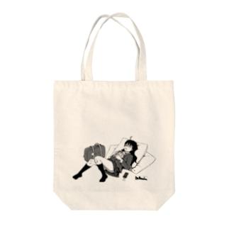 寝っころGIRL vol.4『小石倉かな子』 Tote bags