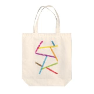 カラフルジップ Tote bags