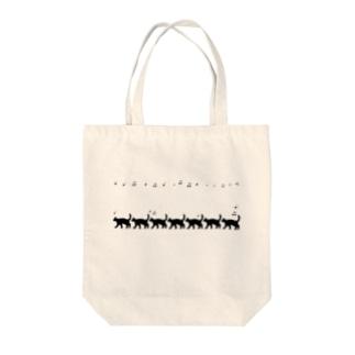 ネコとオンプ Tote bags