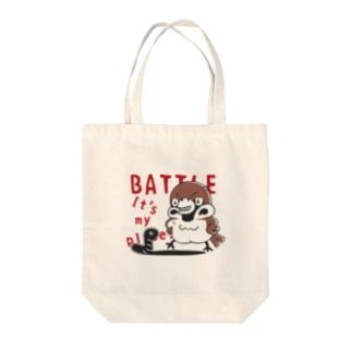CT166 スズメがちゅん*BATTLEちゅん Tote Bag
