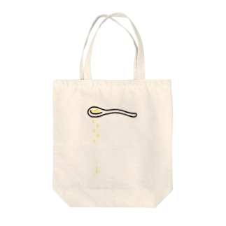 そこには何かいるモン!? in スプーン Tote bags