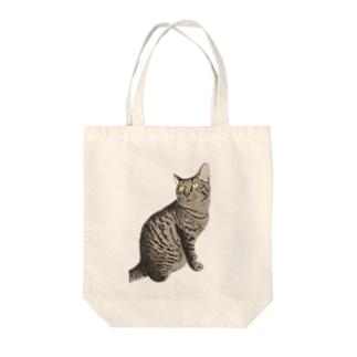 キジ猫見返り美人ミミちゃん Tote bags