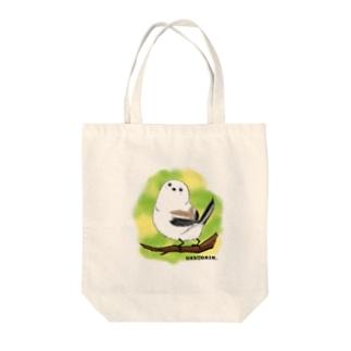 シマエナガのギンちゃん Tote bags